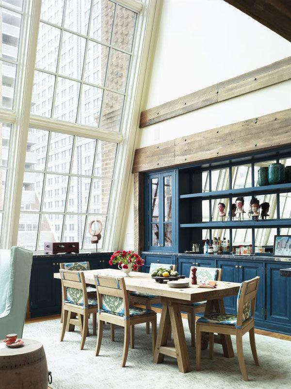 Фотография: Кухня и столовая в стиле , Декор интерьера, Дизайн интерьера, Цвет в интерьере, Белый, Серый, Бирюзовый – фото на InMyRoom.ru