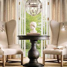 Фотография: Мебель и свет в стиле Кантри, Декор интерьера, Офисное пространство, Интерьер комнат, Restoration Hardware, Цвет в интерьере, Бежевый – фото на InMyRoom.ru