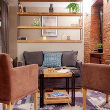 Фотография:  в стиле , Лофт, Квартира, Студия, Проект недели, Красный, Коричневый – фото на InMyRoom.ru