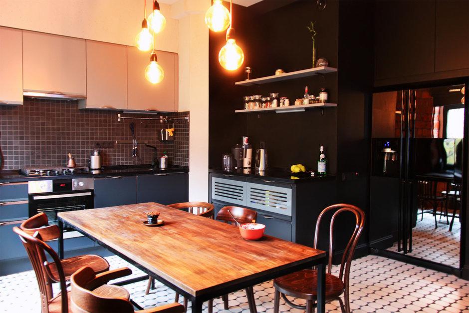 Фотография: Кухня и столовая в стиле Лофт, Квартира, Дома и квартиры, Минимализм, Проект недели – фото на InMyRoom.ru