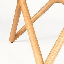 Обеденный стол Triple из белого дуба и закаленного стекла