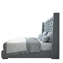 Кровать Jackie King Велюр Серый 200х200