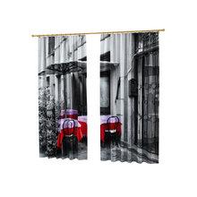 Оригинальные дизайнерские фотошторы: Летняя кофейня
