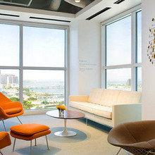 Фотография: Гостиная в стиле Современный, Декор интерьера, Дизайн интерьера, Цвет в интерьере, Оранжевый – фото на InMyRoom.ru