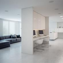 Фотография: Офис в стиле Современный, Хай-тек, Квартира, Цвет в интерьере, Дома и квартиры, Белый – фото на InMyRoom.ru