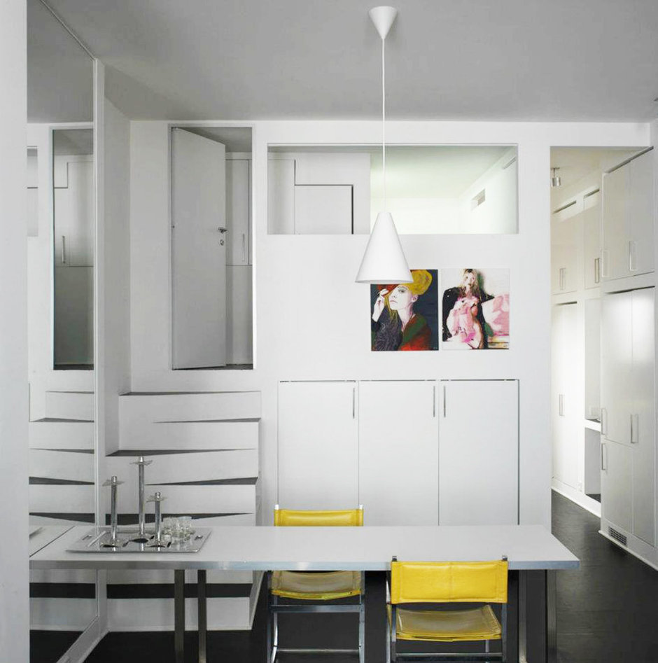 Фотография: Мебель и свет в стиле Лофт, Современный, Хай-тек, Квартира, Цвет в интерьере, Дома и квартиры, Белый – фото на InMyRoom.ru