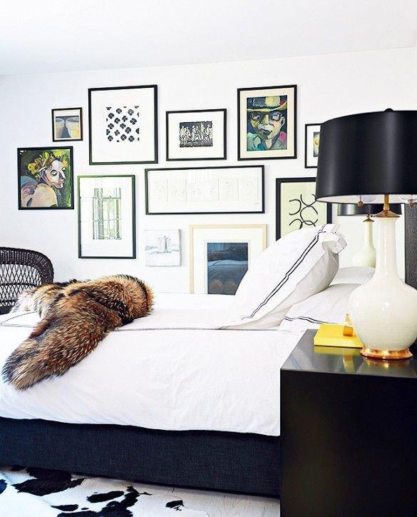 Фотография: Спальня в стиле Современный, Эклектика, Декор интерьера, Дизайн интерьера, Цвет в интерьере, Белый, Синий, Серый – фото на InMyRoom.ru