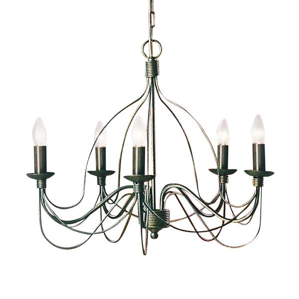 Подвесная люстра Jolly украшена декоративными металлическими прутьями