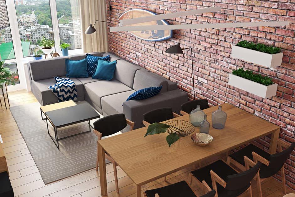 Фотография: Гостиная в стиле Современный, Квартира, Проект недели, Geometrium, Монолитный дом, 3 комнаты, 60-90 метров, ЖК «Арт Casa Luna» – фото на InMyRoom.ru