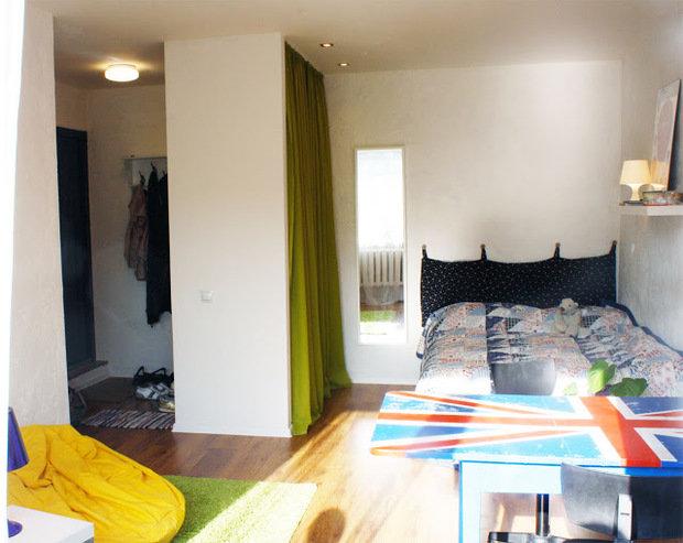 Фотография: Спальня в стиле Современный, Эклектика, Декор интерьера, Декор дома, Цвет в интерьере, Геометрия в интерьере – фото на InMyRoom.ru