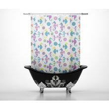 Шторы для ванной: Морские скакуны