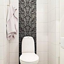 Фотография: Ванная в стиле Современный, Скандинавский, Квартира, Швеция, Цвет в интерьере, Дома и квартиры, Белый – фото на InMyRoom.ru