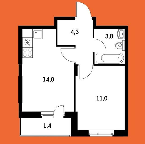 Две спальни и небольшая кухня. Реально?