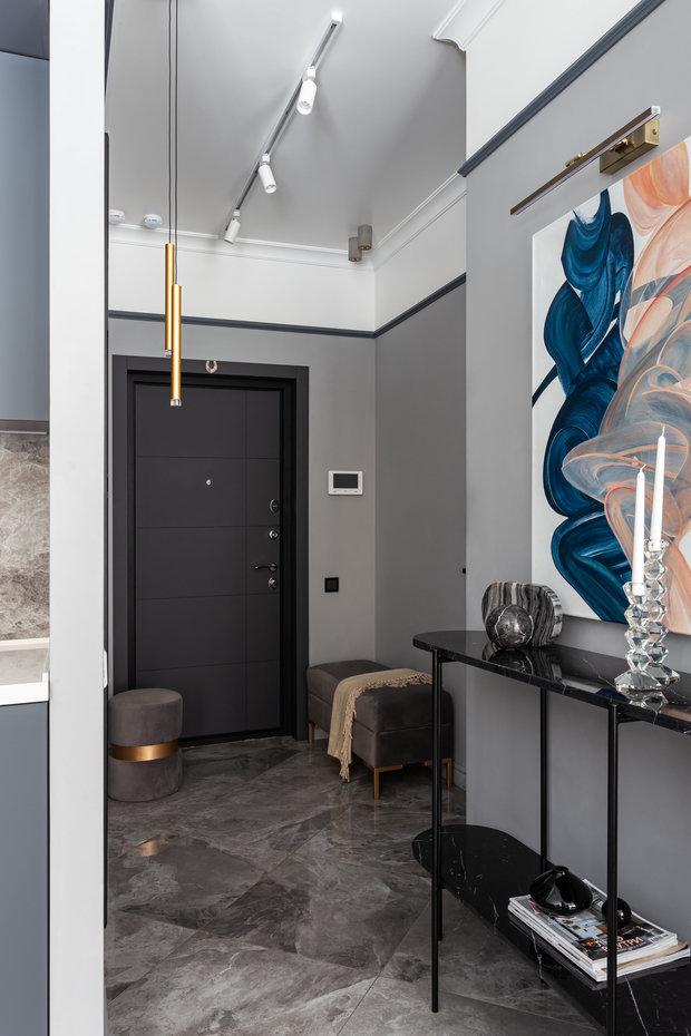 Фотография: Прихожая в стиле Современный, Квартира, Студия, Проект недели, Москва, Марина Козлова, 40-60 метров – фото на INMYROOM