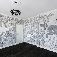 Фото из портфолио Роспись стен детской комнаты – фотографии дизайна интерьеров на INMYROOM
