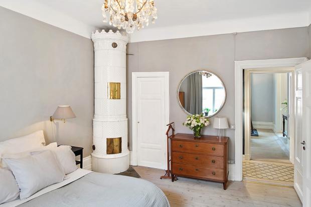 Фотография: Спальня в стиле Скандинавский, Малогабаритная квартира, Квартира, Швеция, Дома и квартиры – фото на InMyRoom.ru