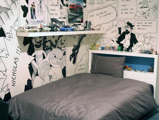 Фотография: Спальня в стиле Современный, Детская, Интерьер комнат, Проект недели – фото на InMyRoom.ru