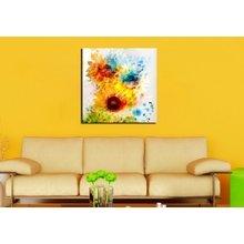"""Интерьерная картина на стену """"Цветные подсолнухи"""""""