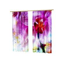 Удивительные шторы с фотопечатью: Розовая воздушность