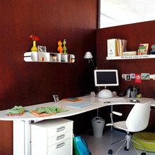 Фотография: Детская в стиле Современный, Кухня и столовая, Декор интерьера, Декор дома, Цвет в интерьере, Белый, Камин, Бирюзовый – фото на InMyRoom.ru
