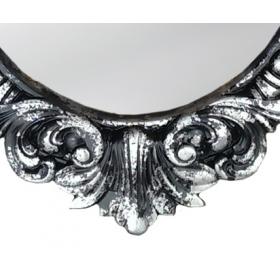 Настенное зеркало овальное веницианское
