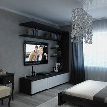 Фотография: Спальня в стиле Современный, Декор интерьера, Квартира, Цвет в интерьере, Дома и квартиры, Проект недели, Стены – фото на InMyRoom.ru