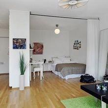 Фотография: Спальня в стиле Скандинавский, Декор интерьера, Малогабаритная квартира, Квартира, Студия – фото на InMyRoom.ru
