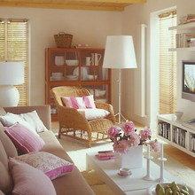 Фотография: Гостиная в стиле Кантри, Квартира, Дома и квартиры, Переделка – фото на InMyRoom.ru