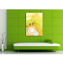 Дизайнерская картина на холсте: Яркие подсолнухи