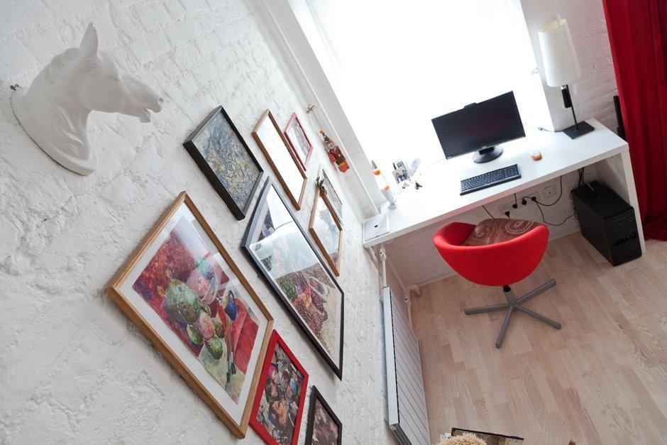 Фотография: Декор в стиле , Лофт, Малогабаритная квартира, Квартира, Цвет в интерьере, Дома и квартиры, Стены – фото на InMyRoom.ru