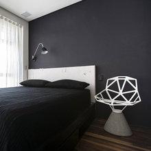 Фотография: Спальня в стиле Эклектика, Малогабаритная квартира, Квартира, Дома и квартиры, Проект недели – фото на InMyRoom.ru
