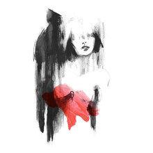 Картина (репродукция, постер): In red - Миртл Куиламо