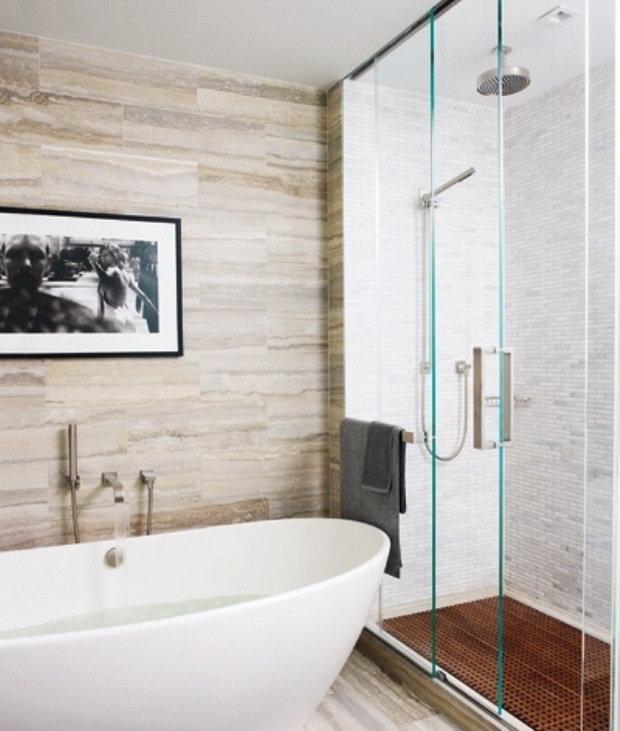 Фотография: Ванная в стиле Современный, Квартира, Дома и квартиры, Интерьеры звезд, Нью-Йорк – фото на InMyRoom.ru