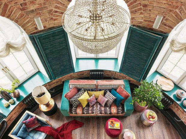 Фотография: Гостиная в стиле Восточный, Скандинавский, Декор интерьера, Квартира, 2 комнаты – фото на INMYROOM