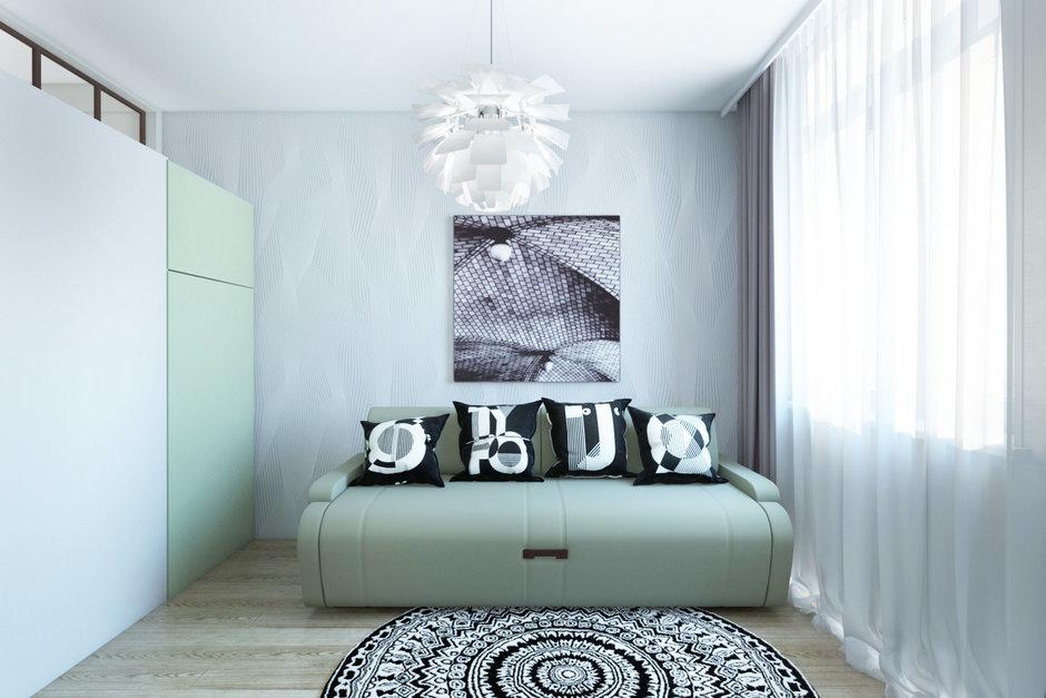 Фотография: Гостиная в стиле Современный, Эклектика, Квартира, Минимализм, Проект недели – фото на InMyRoom.ru