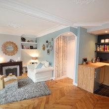 Фотография: Гостиная в стиле Кантри, Классический, Малогабаритная квартира, Квартира, Дома и квартиры, Париж – фото на InMyRoom.ru