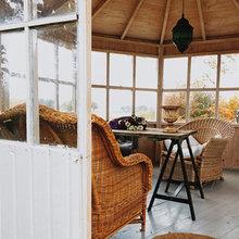 Фотография: Терраса в стиле Кантри, Дом, Дома и квартиры, Плетеная мебель, Дом на природе – фото на InMyRoom.ru