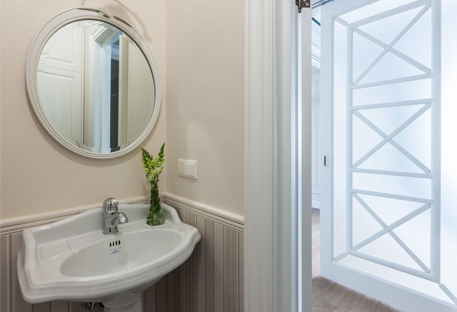 Фотография: Ванная в стиле Классический, Квартира, Проект недели, Москва, Монолитный дом, 4 и больше, Более 90 метров, Анна Максимова, ЖК «Шатер» – фото на InMyRoom.ru