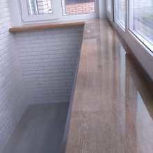 Фото из портфолио Остекления балкона и отделка балкона декоративным камнем с утеплением – фотографии дизайна интерьеров на INMYROOM