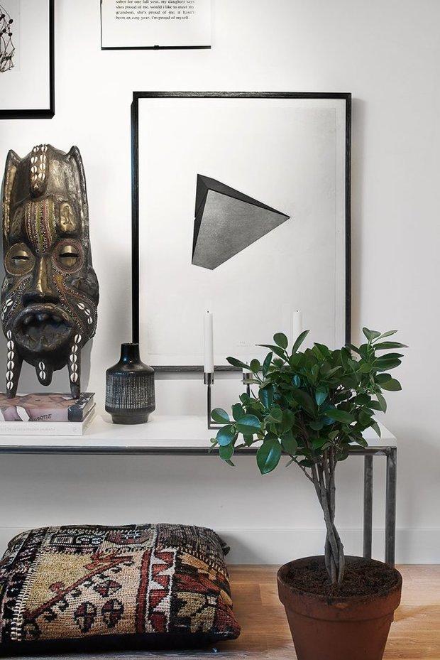 Фотография: Декор в стиле Современный, Эклектика, Скандинавский, Малогабаритная квартира, Студия, Белый – фото на InMyRoom.ru