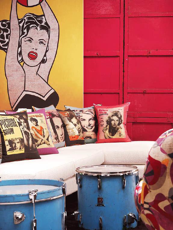 Фотография: Гостиная в стиле Эклектика, Дизайн интерьера, Цвет в интерьере, Советы, Поп-арт – фото на InMyRoom.ru