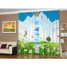 Фотошторы для детской комнаты: Летняя лужайка