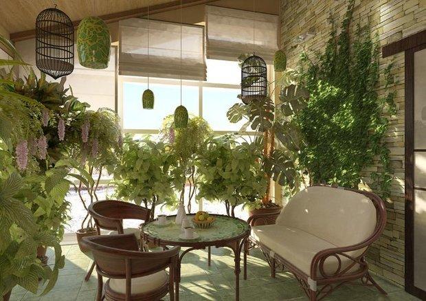 Фотография: Кухня и столовая в стиле Прованс и Кантри, Восточный, Балкон, Дом, Дома и квартиры – фото на InMyRoom.ru