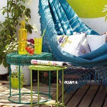 Фотография: Ландшафт в стиле Кантри, Интерьер комнат, Терраса, Гамак – фото на InMyRoom.ru