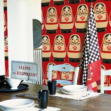 Фотография: Кухня и столовая в стиле Лофт, Декор интерьера, Декор дома, Обои, Стены – фото на InMyRoom.ru