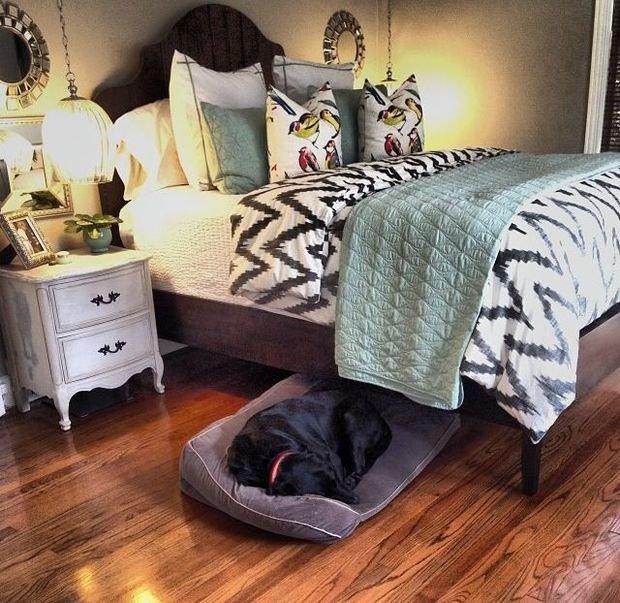 Фотография: Спальня в стиле Прованс и Кантри, Декор интерьера, Мебель и свет – фото на InMyRoom.ru