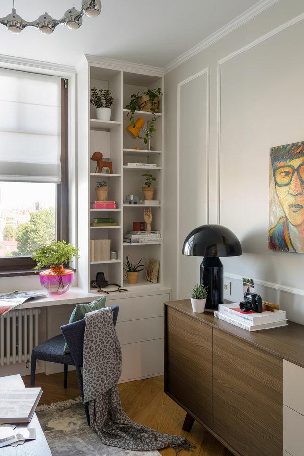 Фотография: Кабинет в стиле Современный, Эклектика, Квартира, Проект недели, Москва, Светлана Гаврилова, Монолитный дом, 3 комнаты, 60-90 метров – фото на INMYROOM