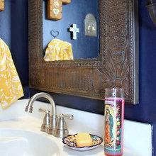 Фотография: Ванная в стиле Кантри, Декор интерьера, Малогабаритная квартира, Интерьер комнат – фото на InMyRoom.ru