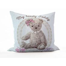 Детская подушка: Розовый мишка