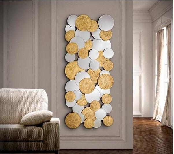 Купить Настенное зеркало Schuller Cirze из множества маленьких зеркал140х60 см, inmyroom, Испания